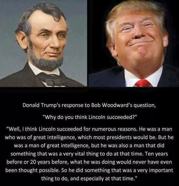 Fact Check Donald Trump Explains Why Lincoln Succeeded