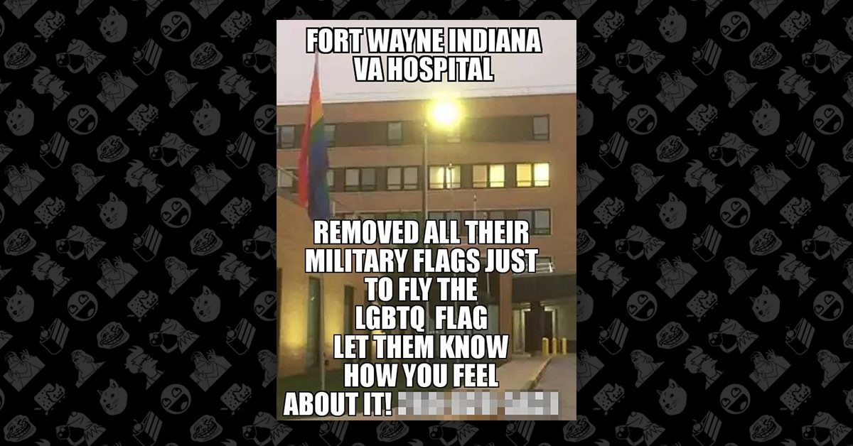FACT CHECK: Did a VA Hospital Replace Its American Flag With a Pride Flag?