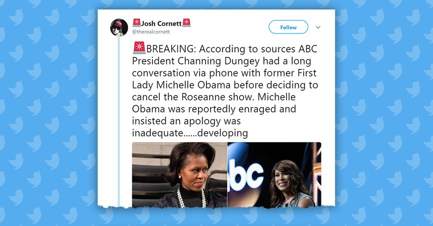 FACT CHECK: Did Michelle Obama Tell ABC to Fire Roseanne Barr? - photo#16