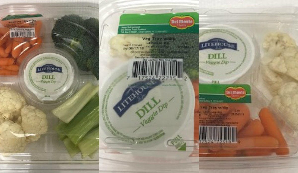 CDC recalls Del Monte vegetable trays