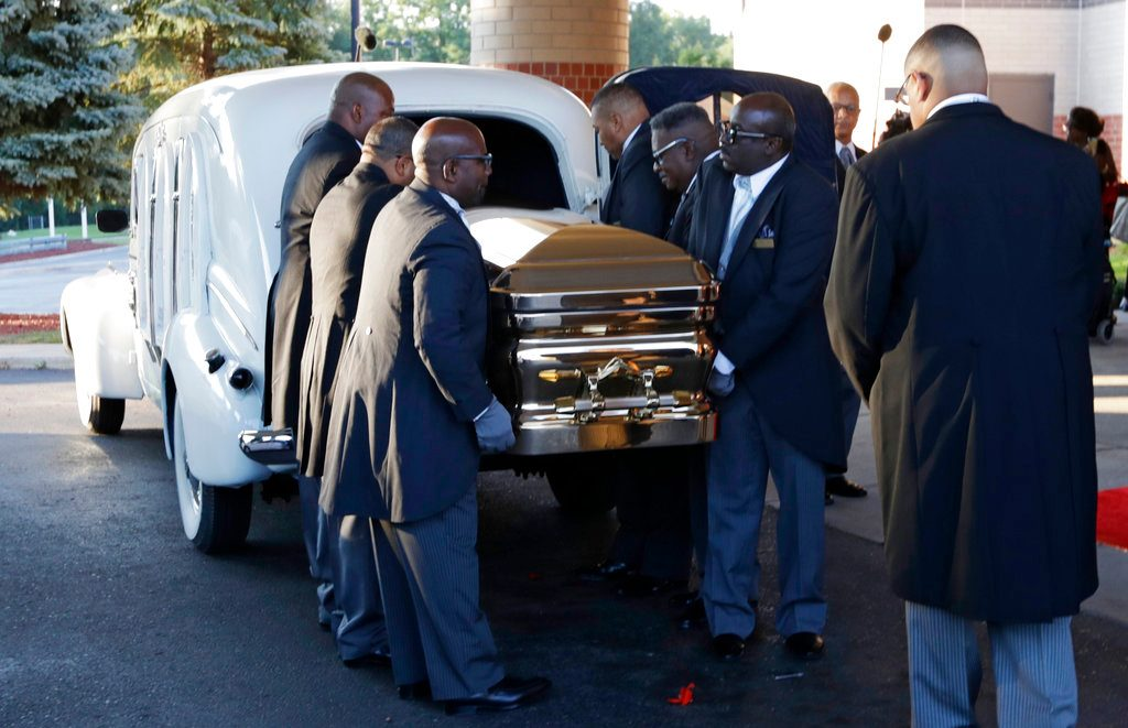 Notables Gather in Detroit for Queen of Soul's Funeral