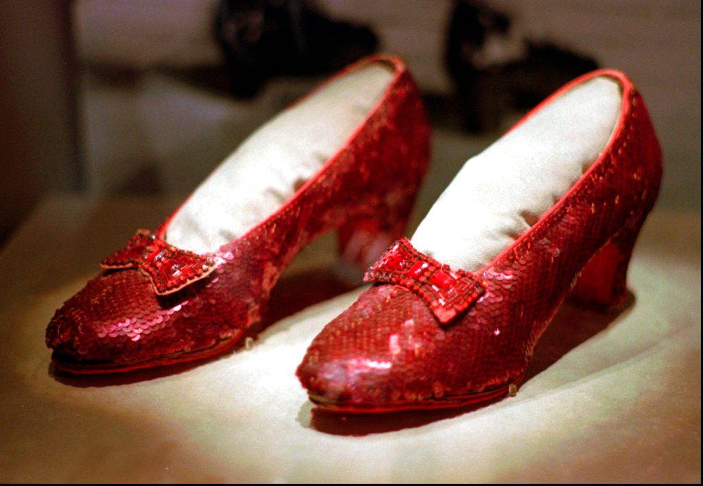 Extortion plot led to recovery of 'Oz' ruby slippers