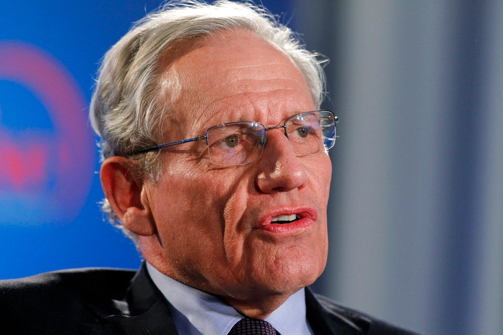 Trump says he doesn't talk the way Bob Woodward portrays him
