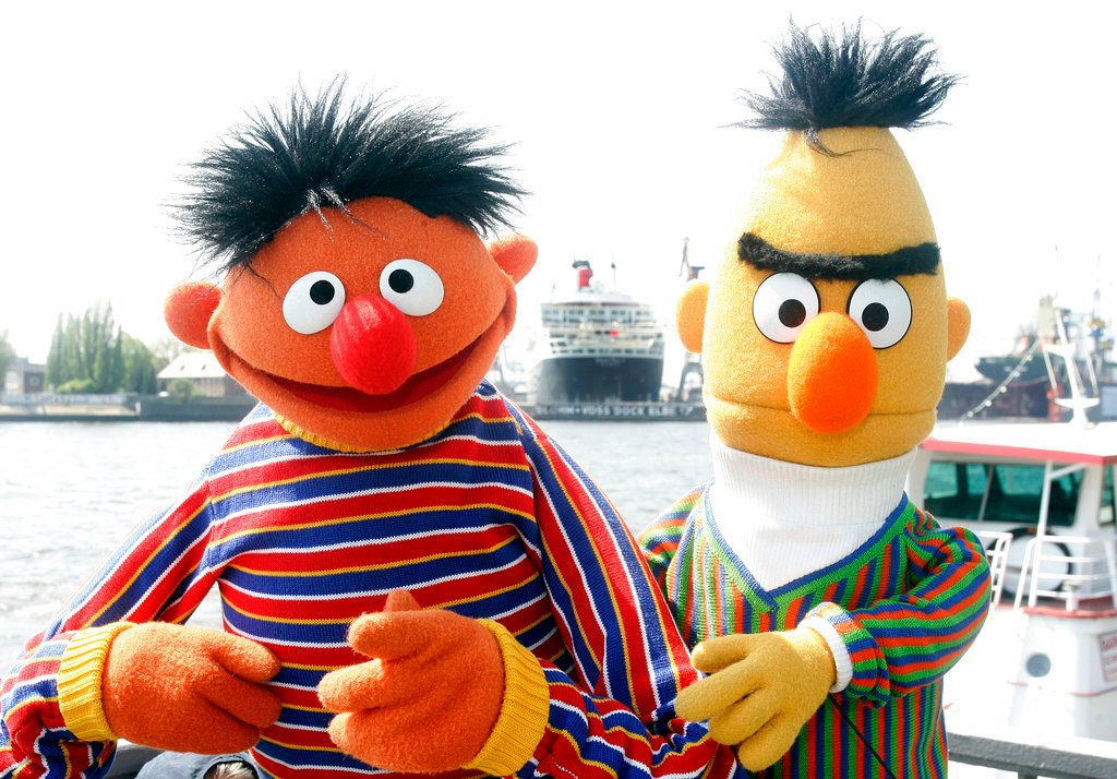 Bert and Ernie, Political Puppets