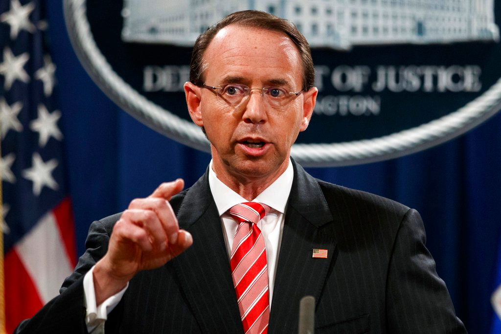 Rosenstein suggested secretly recording Trump and having him thrown out of office