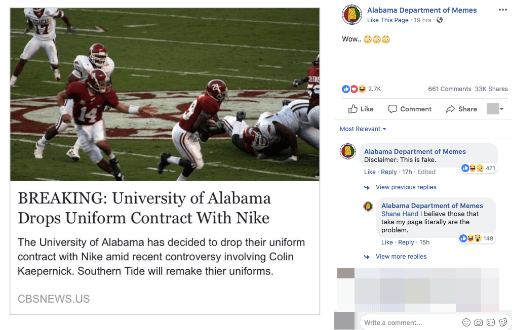 Fact Check Did The University Of Alabama Cut Ties With Nike Over
