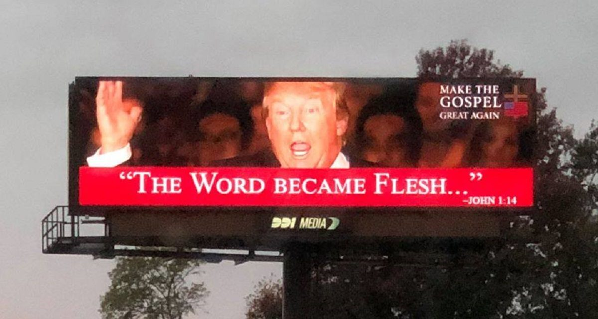 FACT CHECK: Did a Billboard in Missouri Show President Trump Alongside a Gospel Quote?