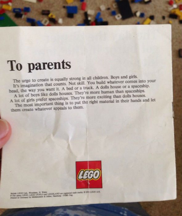 legoletter fact check lego advocated gender equality in toys in 1974