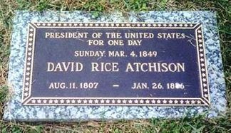 David Rice Atchison burial stone