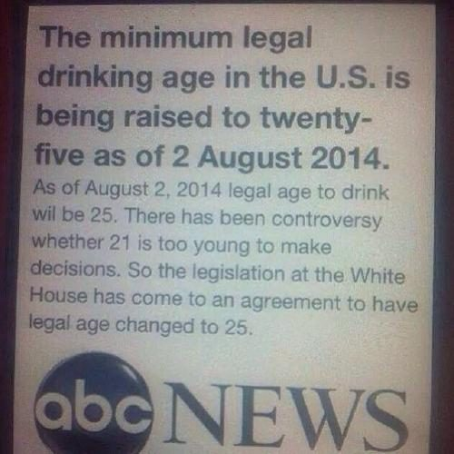 US Legal Drinking Age Raised To - Legal drinking age in mexico