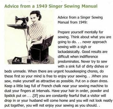 Image result for singer sewing advice 1949