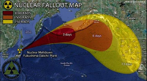 Fukushima Nuclear Fallout Map - Japan map radiation