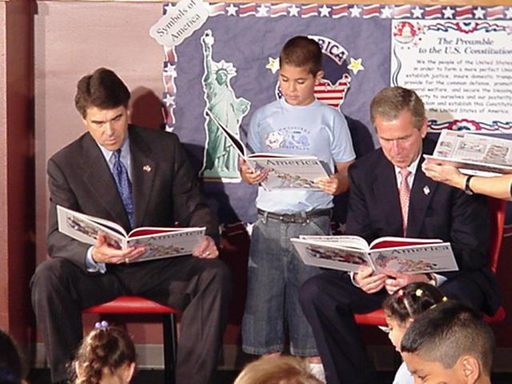 President George W. Bush and Governor Rick Perry