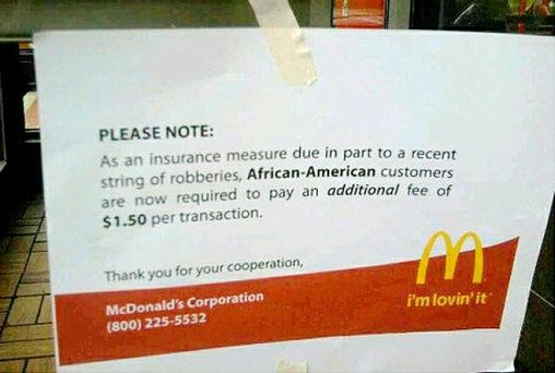 FACT CHECK: Did a McDonald's Impose a Surcharge on African-American on notice letters sample, family letters sample, waiver letters sample, school letters sample, discovery letters sample, business letters sample, donation letters sample,