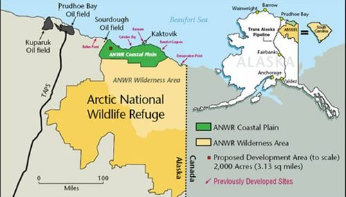 The Truth About ANWR - Map of us oil fields