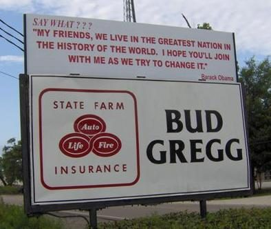 Bud Gregg sign