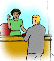 Swearing an oath in court