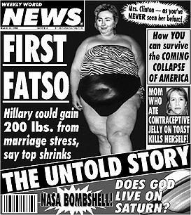 Weekly World News front page